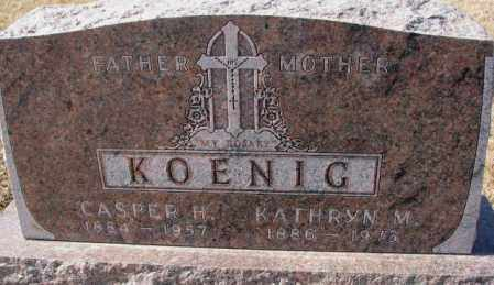 KOENIG, CASPER H. - Cedar County, Nebraska   CASPER H. KOENIG - Nebraska Gravestone Photos