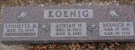 KOENIG, BERNICE H. - Cedar County, Nebraska | BERNICE H. KOENIG - Nebraska Gravestone Photos