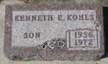KOHLS, KENNETH E. - Cedar County, Nebraska   KENNETH E. KOHLS - Nebraska Gravestone Photos