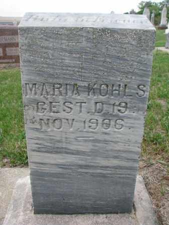 KOHLS, MARIA - Cedar County, Nebraska | MARIA KOHLS - Nebraska Gravestone Photos