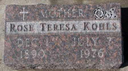 KOHLS, ROSE TERESA - Cedar County, Nebraska | ROSE TERESA KOHLS - Nebraska Gravestone Photos