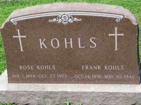 KOHLS, FRANK - Cedar County, Nebraska | FRANK KOHLS - Nebraska Gravestone Photos
