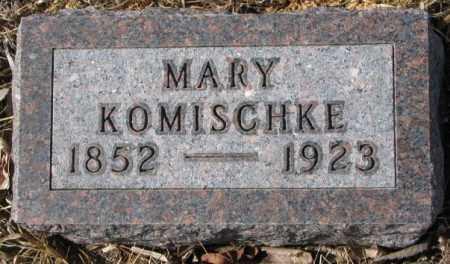 KOMISCHKE, MARY - Cedar County, Nebraska | MARY KOMISCHKE - Nebraska Gravestone Photos