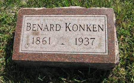 KONKEN, BENARD - Cedar County, Nebraska   BENARD KONKEN - Nebraska Gravestone Photos