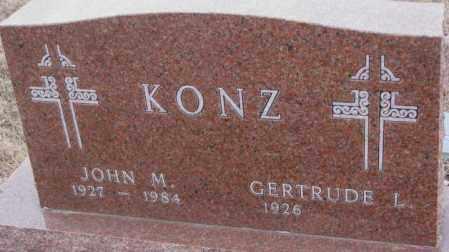 KONZ, JOHN M. - Cedar County, Nebraska | JOHN M. KONZ - Nebraska Gravestone Photos