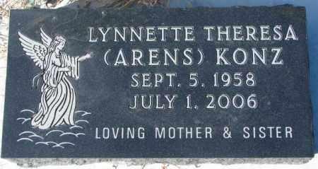 KONZ, LYNNETTE THERESA - Cedar County, Nebraska | LYNNETTE THERESA KONZ - Nebraska Gravestone Photos