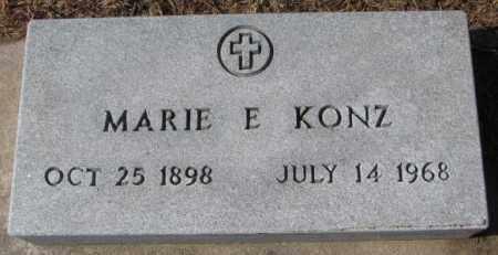 KONZ, MARIE E. - Cedar County, Nebraska | MARIE E. KONZ - Nebraska Gravestone Photos