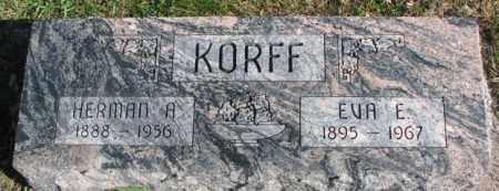 KORFF, HERMAN A. - Cedar County, Nebraska | HERMAN A. KORFF - Nebraska Gravestone Photos