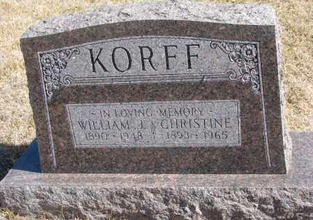KORFF, WILLIAM J. - Cedar County, Nebraska | WILLIAM J. KORFF - Nebraska Gravestone Photos