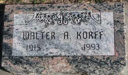 KORFF, WALTER A. - Cedar County, Nebraska   WALTER A. KORFF - Nebraska Gravestone Photos