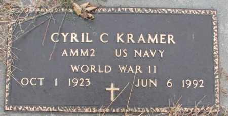 KRAMER, CYRIL C. (WW II MARKER) - Cedar County, Nebraska | CYRIL C. (WW II MARKER) KRAMER - Nebraska Gravestone Photos