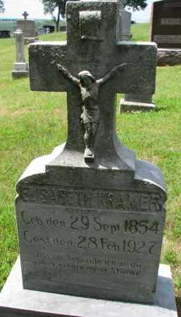 KRAMER, ELISABETH - Cedar County, Nebraska | ELISABETH KRAMER - Nebraska Gravestone Photos