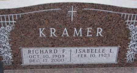 KRAMER, ISABELLE L. - Cedar County, Nebraska | ISABELLE L. KRAMER - Nebraska Gravestone Photos