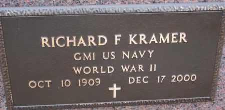 KRAMER, RICHARD F. (WW II) - Cedar County, Nebraska | RICHARD F. (WW II) KRAMER - Nebraska Gravestone Photos