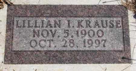 KRAUSE, LILLIAN I. - Cedar County, Nebraska | LILLIAN I. KRAUSE - Nebraska Gravestone Photos
