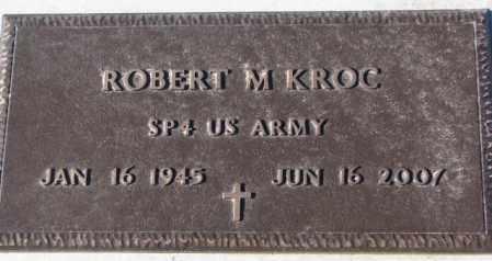 KROC, ROBERT M. (MILITARY) - Cedar County, Nebraska | ROBERT M. (MILITARY) KROC - Nebraska Gravestone Photos