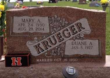 KRUEGER, MARY A - Cedar County, Nebraska   MARY A KRUEGER - Nebraska Gravestone Photos