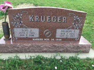 KRUEGER, LOIS J - Cedar County, Nebraska   LOIS J KRUEGER - Nebraska Gravestone Photos