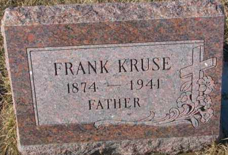 KRUSE, FRANK - Cedar County, Nebraska | FRANK KRUSE - Nebraska Gravestone Photos