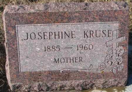 KRUSE, JOSEPHINE - Cedar County, Nebraska | JOSEPHINE KRUSE - Nebraska Gravestone Photos