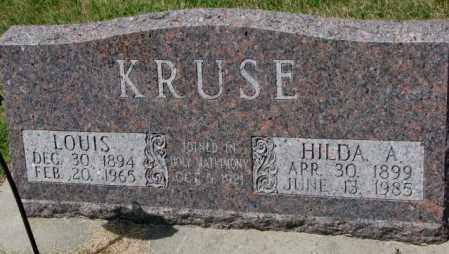 KRUSE, LOUIS - Cedar County, Nebraska | LOUIS KRUSE - Nebraska Gravestone Photos
