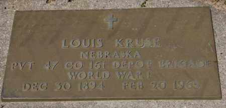 KRUSE, LOUIS (WW I) - Cedar County, Nebraska | LOUIS (WW I) KRUSE - Nebraska Gravestone Photos