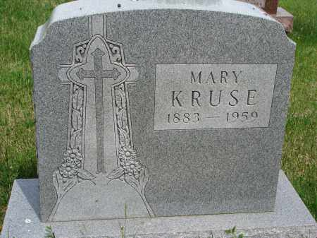 KRUSE, MARY - Cedar County, Nebraska | MARY KRUSE - Nebraska Gravestone Photos