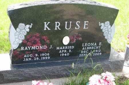 KRUSE, RAYMOND J. - Cedar County, Nebraska | RAYMOND J. KRUSE - Nebraska Gravestone Photos