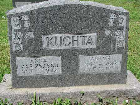 KUCHTA, ANTON - Cedar County, Nebraska | ANTON KUCHTA - Nebraska Gravestone Photos