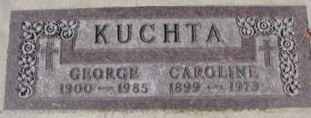 KUCHTA, CAROLINE - Cedar County, Nebraska | CAROLINE KUCHTA - Nebraska Gravestone Photos