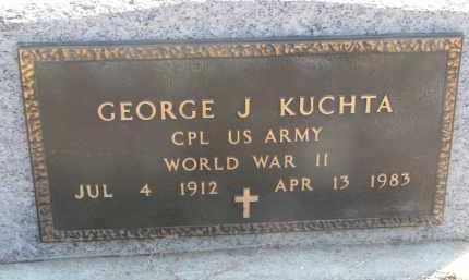 KUCHTA, GEORGE J. (WW II) - Cedar County, Nebraska   GEORGE J. (WW II) KUCHTA - Nebraska Gravestone Photos