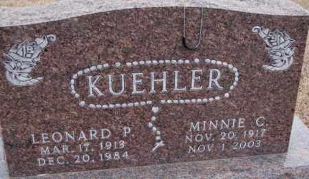 KUEHLER, MINNIE C. - Cedar County, Nebraska | MINNIE C. KUEHLER - Nebraska Gravestone Photos
