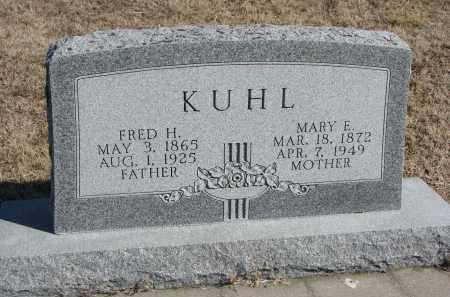 KUHL, MARY E. - Cedar County, Nebraska | MARY E. KUHL - Nebraska Gravestone Photos
