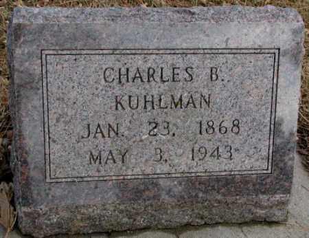 KUHLMAN, CHARLES B. - Cedar County, Nebraska | CHARLES B. KUHLMAN - Nebraska Gravestone Photos