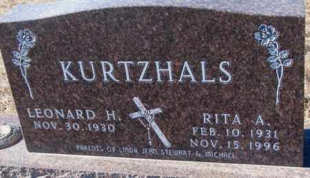 KURTZHALS, LEONARD H. - Cedar County, Nebraska   LEONARD H. KURTZHALS - Nebraska Gravestone Photos