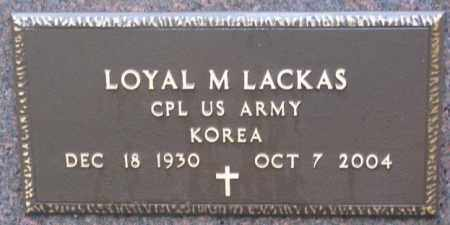 LACKAS, LOYAL M. (MILITARY MARKER) - Cedar County, Nebraska | LOYAL M. (MILITARY MARKER) LACKAS - Nebraska Gravestone Photos
