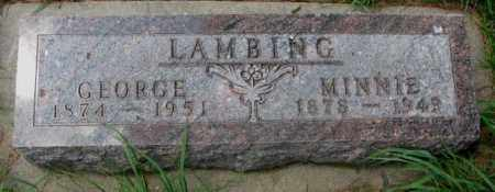 LAMBING, GEORGE - Cedar County, Nebraska   GEORGE LAMBING - Nebraska Gravestone Photos