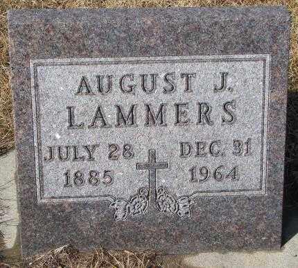 LAMMERS, AUGUST J. - Cedar County, Nebraska | AUGUST J. LAMMERS - Nebraska Gravestone Photos