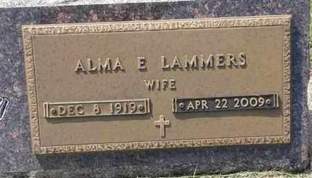 LAMMERS, ALMA E. - Cedar County, Nebraska   ALMA E. LAMMERS - Nebraska Gravestone Photos