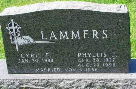 LAMMERS, PHYLLIS J. - Cedar County, Nebraska | PHYLLIS J. LAMMERS - Nebraska Gravestone Photos