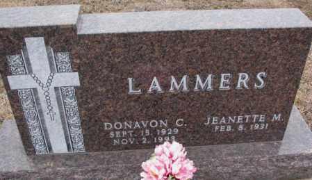 LAMMERS, JEANETTE M. - Cedar County, Nebraska   JEANETTE M. LAMMERS - Nebraska Gravestone Photos