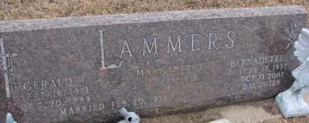 LAMMERS, BERNADETTE M. - Cedar County, Nebraska | BERNADETTE M. LAMMERS - Nebraska Gravestone Photos
