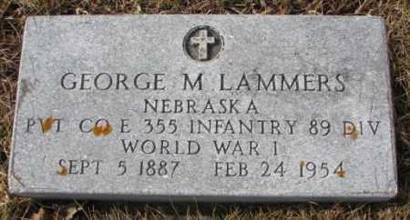 LAMMERS, GEORGE M. (WW I) - Cedar County, Nebraska   GEORGE M. (WW I) LAMMERS - Nebraska Gravestone Photos