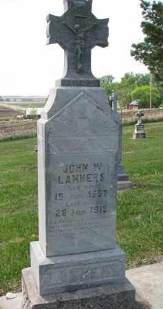 LAMMERS, JOHN W. - Cedar County, Nebraska | JOHN W. LAMMERS - Nebraska Gravestone Photos