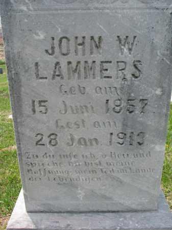LAMMERS, JOHN W. (CLOSEUP) - Cedar County, Nebraska | JOHN W. (CLOSEUP) LAMMERS - Nebraska Gravestone Photos