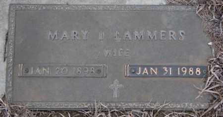 LAMMERS, MARY I. - Cedar County, Nebraska | MARY I. LAMMERS - Nebraska Gravestone Photos