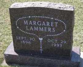LAMMERS, MARGARET - Cedar County, Nebraska | MARGARET LAMMERS - Nebraska Gravestone Photos