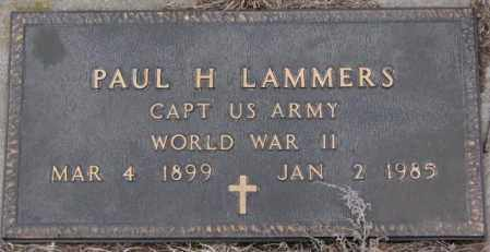 LAMMERS, PAUL H. (WW II) - Cedar County, Nebraska | PAUL H. (WW II) LAMMERS - Nebraska Gravestone Photos