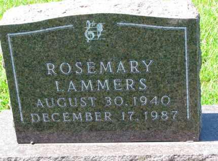 LAMMERS, ROSEMARY - Cedar County, Nebraska | ROSEMARY LAMMERS - Nebraska Gravestone Photos
