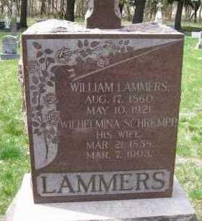LAMMERS, WILHELMINA - Cedar County, Nebraska   WILHELMINA LAMMERS - Nebraska Gravestone Photos